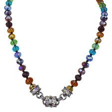 Kirks Folly Rainbow Memories Beaded Magnetic Interchangeable Necklace Silvertone