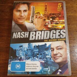 Nash Bridges the Second Season DVD Region All LIKE NEW FREE POST