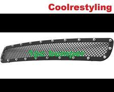 Fit Chevy Silverado HD 2500/3500 2011-2014 Black Mesh Rivet Bumper Grille BoltOn