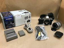Olympus OM-D E-M5 16.1MP Digital Camera -Silver + 14-42mm Lens + Flash  LOW SHTR