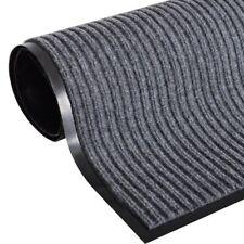 #entrance Doormat PVC Back Patterned Outdoor Coir Door Mat 90x60 Cm Home Grey
