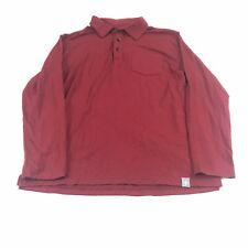 Coolibar Men's Shirt Medium Merino Wool Suntect Red UPF 50+ Long Sleeve Stretch