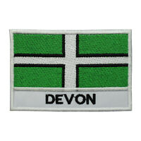 Devon County Flag Patch Iron On Patch Sew On Embroidered Patch