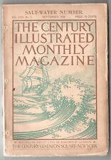 1899 THE CENTURY ILLUSTRATED MONTHLY MAGAZINE September JOSHUA SLOCUM Sailing