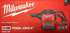 Milwaukee 0882-20 M18 Compact Vacuum Bare Tool New