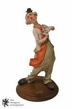 "Giuseppe Armani ""Singing Clown"" Figurine Capodimonte Hobo Clown American 1970s"