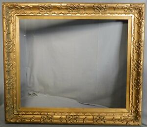 Antique Newcomb Macklin Era Closed Corner Picture Frame Gilt 20x24 Arts Crafts
