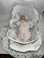 Vintage Baby Doll Carrier Basket with Handles Bedding Wicker Bedding Vintage