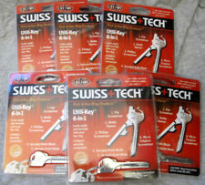 U.S Selle Swiss+Tech 6 in 1 Utili Key Tool Multifunction EDC Stainless Steel
