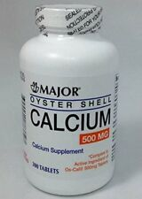 Major Pharmaceuticals Oyster Shell Calcium, 500mg, 300 Tablets