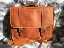 AUTHENTIC BROWN COW LEATHER MEN'S MESSENGER SHOULDER BAG MEDIUM LAPTOP BRIEFCASE