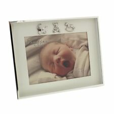 "Bambino Thin Silver Plated Border Frame 3 Icons 7"" X 5"""
