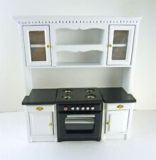 Dollhouse Miniature Black Stove in Cabinet T5298