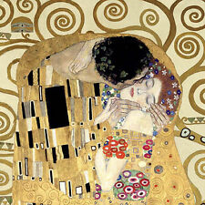 Gustav Klimt: The Kiss Detail Keilrahmen-Bild 70x70 Leinwand Kuss Klassiker
