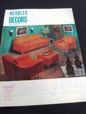 MOBILIERS /SIÈGES VINTAGES DES ANNÉES 1960 -MAGAZINE MEUBLES/ DÉCORS 1967 - L19