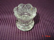 Vintage Cut Clear Glass Crystal Toothpick Holder unmarked dining decoration