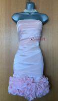 Karen Millen UK 10 Pale Pink Luxe Embellished Strapless Cocktail Evening Dress