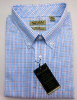 NWT Gold Label Roundtree Yorke Blue & Red Check LS Men Shirt Big Tall 3XLT 4XLT