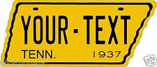 Tennessee 1937 Tag Custom Personalize Novelty Vehicle Car Auto License Plate