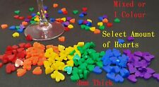 Gay Pride Rainbow Colours Acrylic Heart Confetti Table Scatter Embellishment 1cm