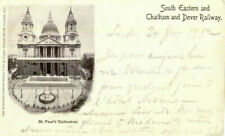 1910 postcard South Eastern & Chatham & Dover Railway St Paul's Cathedral London