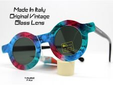 OCCHIALI SOLE SUNGLASSES VINTAGE TONDO SWATCH serpente LENTE VETRO MADE IN ITALY