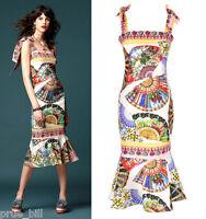 Unique Print Trumpet Peplum Hem Tie-shoulder Stretchy Body Flounce Foulard Dress