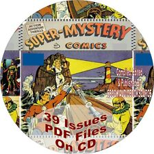 SUPER-MYSTERY COMIC BOOKS - 39 ISSUES - PDF FILES - ON CD - MAGNETIC MAN-VINTAGE
