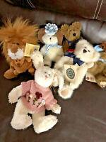 Lot Of 6 Boyds Bears Mini MIXED Bears & Friends Bunny TIGER Bears Mixed 8 - 5 in