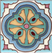 "California Malibu Tile Reproduction ~ Hannini C' 6""x6"" Per SqFt 4 Pcs"