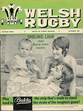 WELSH RUGBY MAGAZINE OCT 1971, BARRY JOHN, TALYWAIN, PETERSHAM AUSTRALIA TOUR