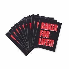 BAKER FOR LIFE SKATEBOARD STICKER BLACK RED NEW - DVD REYNOLDS DOLLIN SKATE