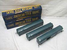 Set American Flyer Cars (2) 650 Passenger Cars 718 Railway Express Agency Box