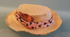 Vintage Mattel Barbie Ken Doll Straw Hat Fedora W Feather #785 Dreamboat Nice