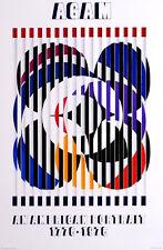 AGAM YAACOV AFFICHE SÉRIGRAPHIÉE 1980 POSTER ART CINÉTIQUE ISRAEL BIRTH OF FLAG