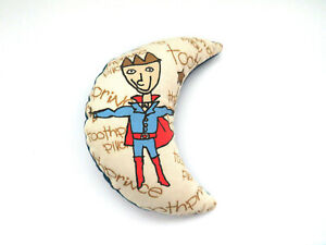 TOOTH FAIRY Tooth Prince Pillow Moon Shaped Bean Bag with Tooth Pocket  NOS