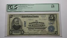 $5 1902 Cohoes New York NY National Currency Bank Note Bill #1347 PCGS Fine