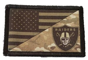 Subdued Multicam LA RAIDERS USA FLAG Morale Patch Tactical Military Army