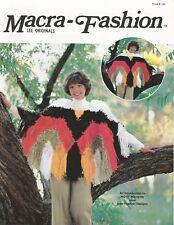 Macra-Fashion Lee Originals Vintage Macrame Patterns Poncho Shawl Jewelry + NEW