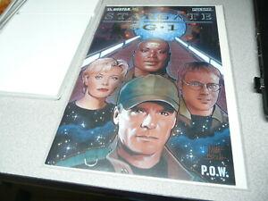 RARE GOLD FOIL STARGATE SG-1, P.O.W.  AVATAR, PULSAR COMIC  + COA