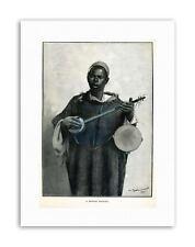 MOORISH MINSTREL NORTH AFRICAN Painting Drawing Portrait Canvas art Prints