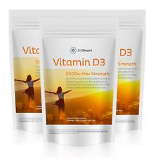 Sun Vit D3 5000iu Vitamin D3 TABLETS - HIGH STRENGTH - SUPERFOOD (Not Capsules)