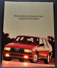 1988 Alfa Romeo Milano Sales Brochure Folder Excellent Original 88