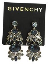 Givenchy Blue Marine Swaroviski Element Crystals Statement Earring,NWT$98