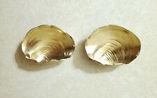"2 Rare 1800s Gorham 1 3/4"" Sterling Silver Clam Shell Dishes 2040"