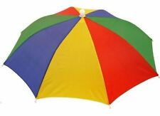 Adults Novelty Umbrella Hat Waterproof Rainbow Fishing Brolly Fancy Dress Rain