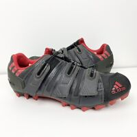 Adidas MTB Mountain Bike Cycling Shoes Mens Size 10 EUR 44 With Cleats Red Black
