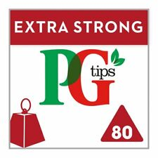 PG Tips Extra Strong Pyramid Teabags 80 per pack - Free Shipping
