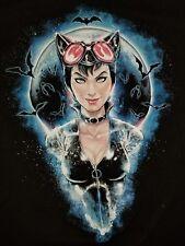 XXL Catwoman t-shirt: punk rock retro Batman