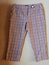 BNWT M&S Ladies Check Straight Leg Trousers Size 20